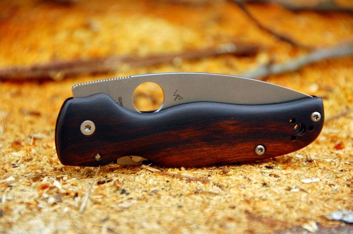 Spyderco Shaman custom Ironwood scales v 3   G10 lt Custom